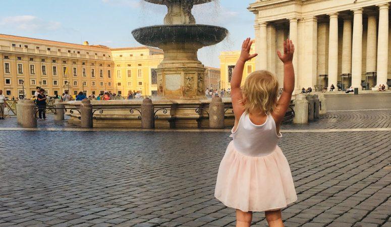 Roma med barn